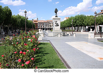 Alcala de Henares - City square in Alcala de Henares, famous...