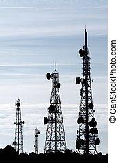 télécommunications, tours