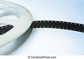 Film reel - Old vintage film reel with 16 mm film