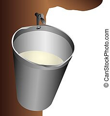 Maple Water Bucket - Illustration of a maple water...
