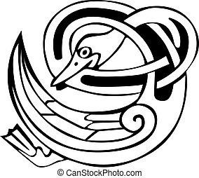 Celtic viking duck - Tattoo design of a Celtic viking animal...