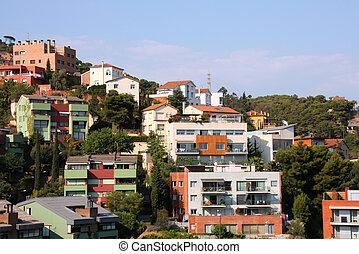 Barcelona - Tibidabo - Barcelona in Catalonia - residential...