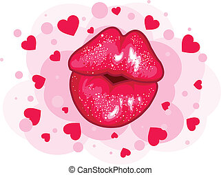 Amore, bacio, disegno