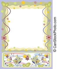 Easter ,background frame  CMYK