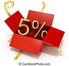 Five Percent Discount Gift Box