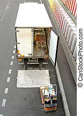 leverans, lastbil