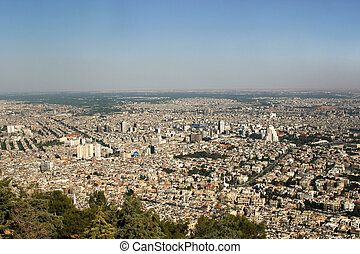 Panoramic Damascus Syria - Damascus is the capital and the...