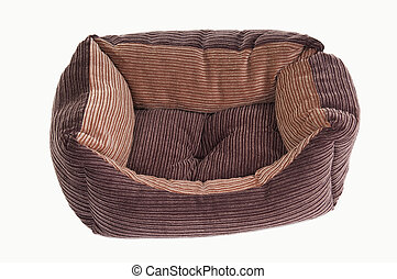 Dog's cot - Comfortable brown cot for puppies, shot from...