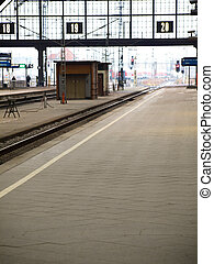 train station - platforms in the train station of Leipzig...
