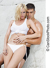 sexy couple passion - sexy passionate couple showing their...