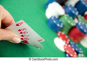 Gambling chips and cards - Cassino gambling chips and...