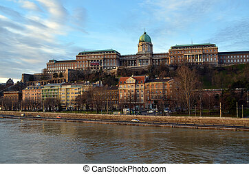 Buda Castle on Danube River, Budapest, Hungary