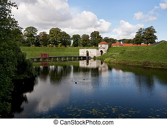 gate of Copenhagen's Kastellet. - Romantic bucolic setting...