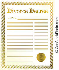 Divorce Decree documents