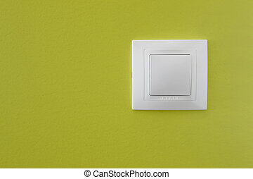 Light switch - Simple light switch on a green wall