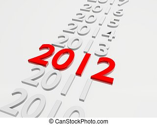 New Year 2012 in  followed by the years 2013 up to 2019