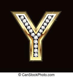 Bling Y letter