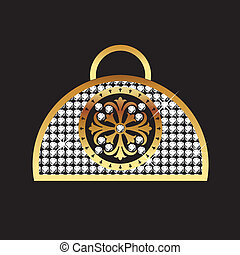 Woman's handbag bling style