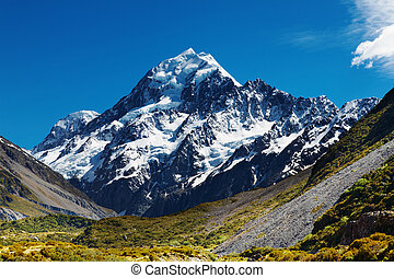 Mount Cook, New Zealand - Mount Cook, highest peak of New...