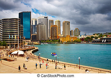 Sydney Harbour, Australia - Sydney Harbour and city skyline,...