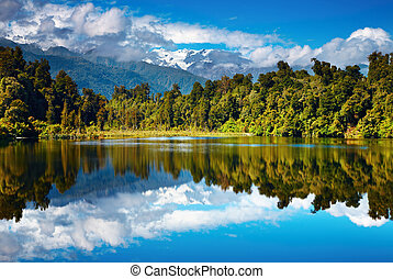 Beautiful lake, Southern Alps, New Zealand