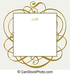 Vector Gold Ornaments and Dot Frame