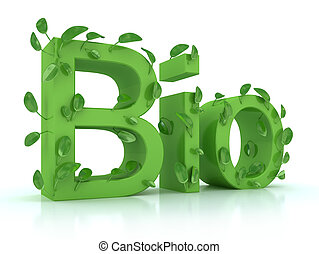 Bio, bladeren, Woord, witte