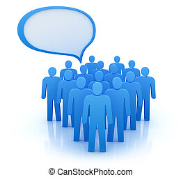 The views of people group. Isolated