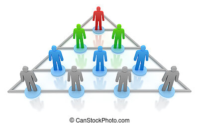Pyramid hierarchy Business concept