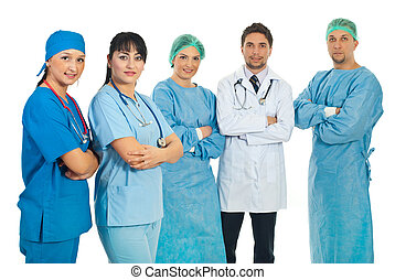 Team of health care workers - Two health care workers women...