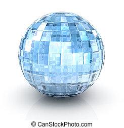 %u0421rystal ball on white background