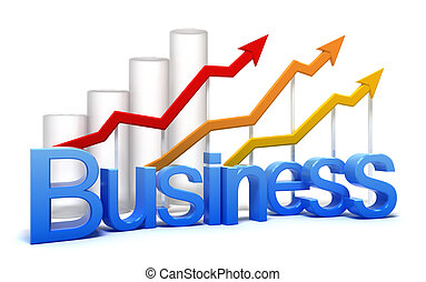 Business graph concept isolated on white