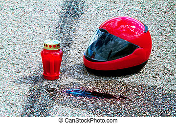 Motorcycle accident Traffic accident - An accident with a...