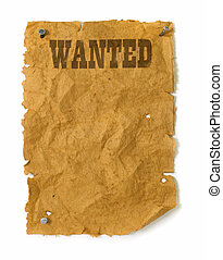 Wild west Wanted poster - Wanted poster wild west style with...