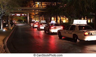 Night taxi traffic in Las Vegas tim