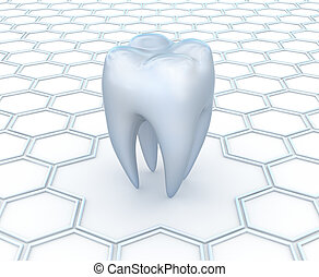 Dental abstract 3D background