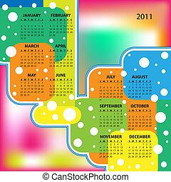 Vector - Colorful 2011 Calendar