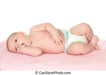 Cute baby with fingers in mouth