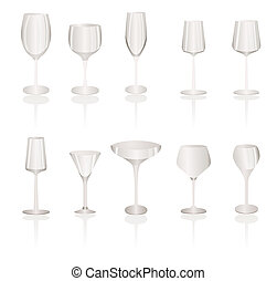 different kind of Wine Glasses