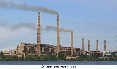 Poison for the planet - Factory pollutes the environment...