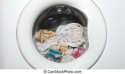 Washing machine working laundry - Washing machine working...