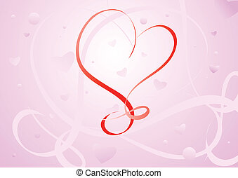 Valentines Day background Vector illustration for design