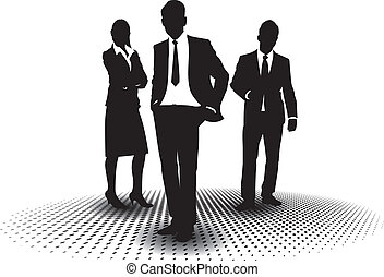 busines people - three business people