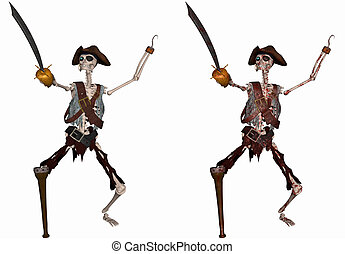 Pirate Skeleton - 3d render of a Pirate Skeleton