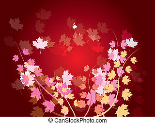 autumn leaves - nature background - vector illustration