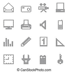 square office and home icons