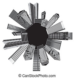 Black and white cities