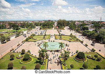 Vientiane, capital of Laos.