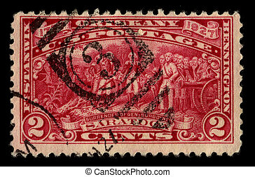 Postage stamp - USA - CIRCA 1927: A stamp printed in USA...