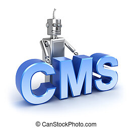 CMS : content management system concept Isolated on white